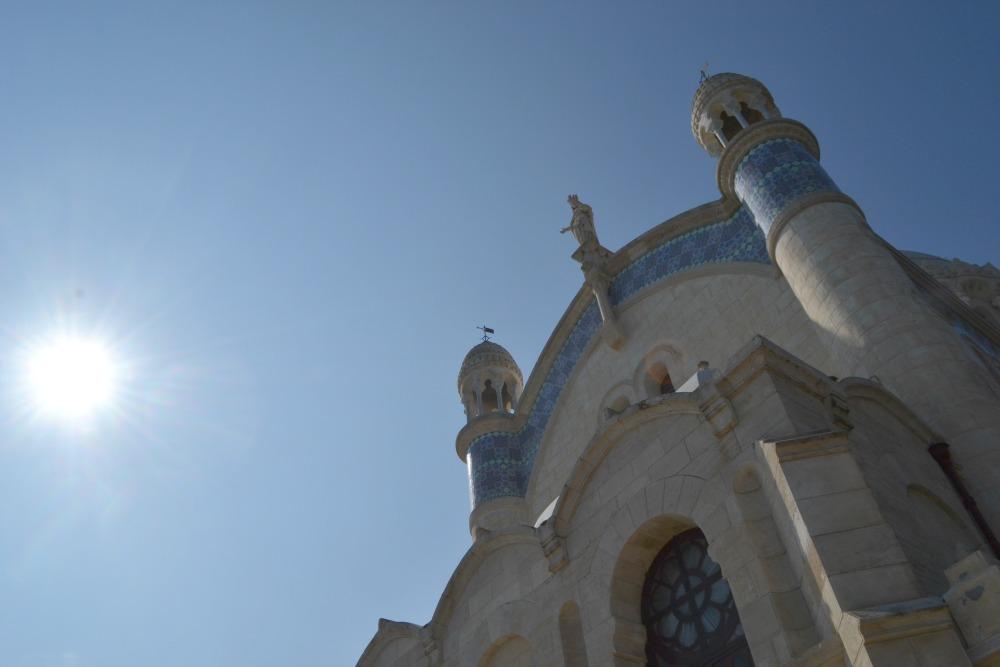 """Basilique """"Notre dame d'Afrique"""" située sur les hauteurs d'Alger. Nommée par certains algérois """"Madame l'Afrique"""""""