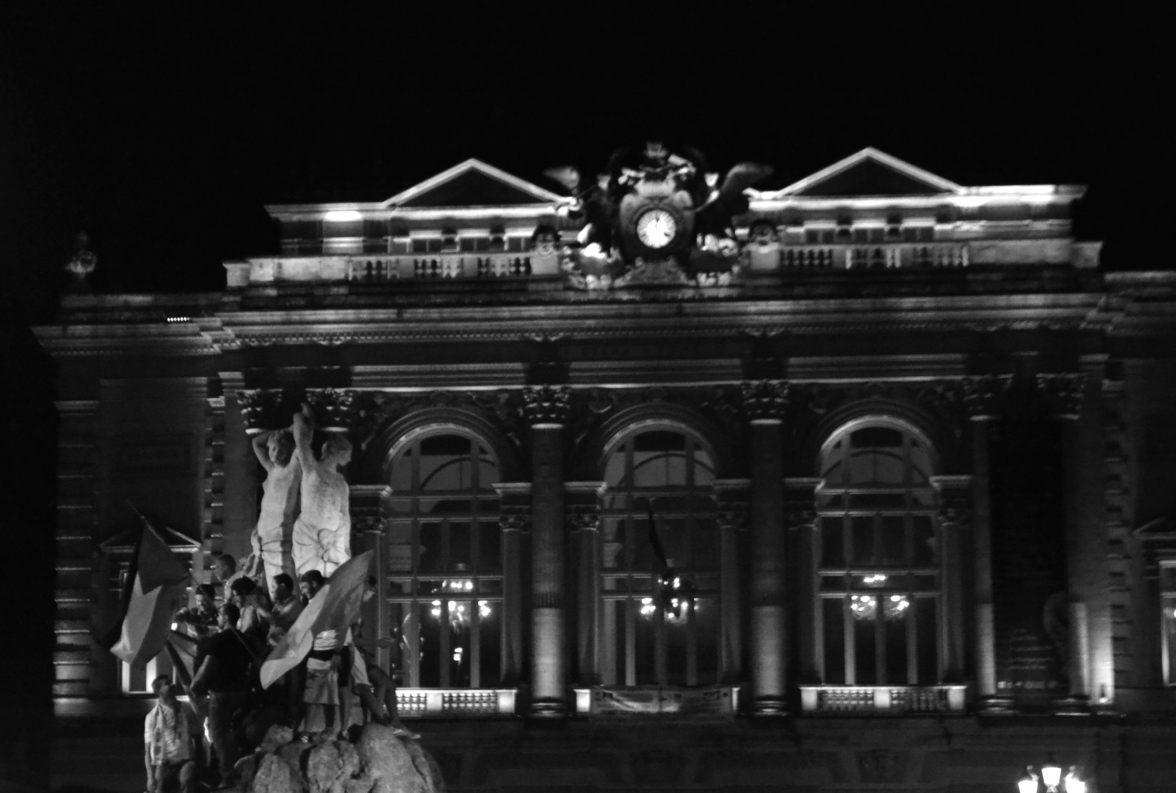 Célébration de la qualification à Montpellier.